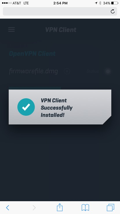 VPN-Client-installed-success